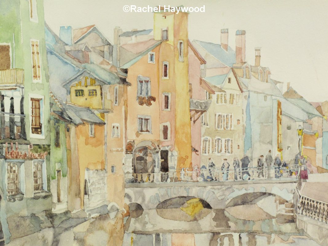 Annecy watercolour painting